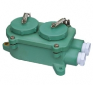 Watertight 3-Pin Twin Receptacle, Z-2M