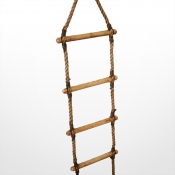 Wooden Round Rung Ladder